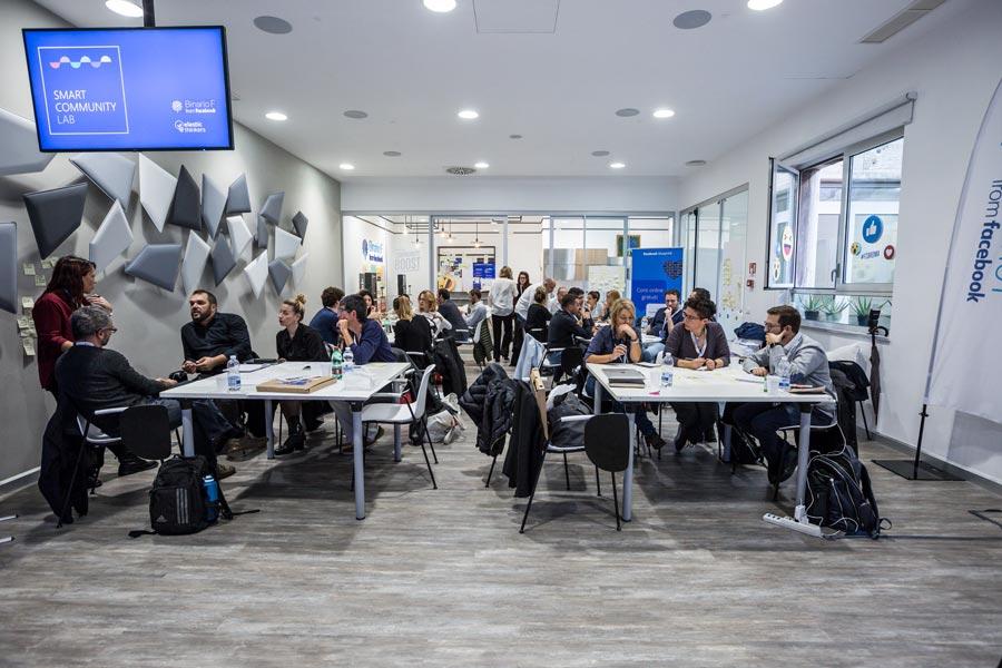 L'aula al completo dello Smart Community Lab